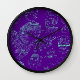 Space sketch Wall Clock