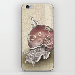 In which a snail is most festive this christmas  iPhone Skin