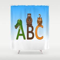 ABC Animals Shower Curtain
