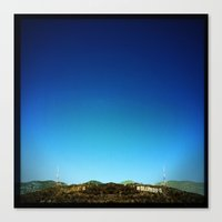 hollywood Canvas Prints featuring Hollywood by Virgini Bedard