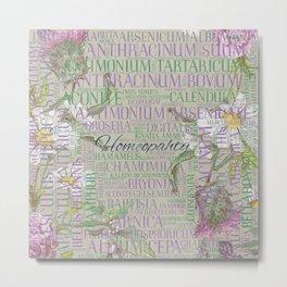 Homeopathy - Word Art with Remedies Metal Print