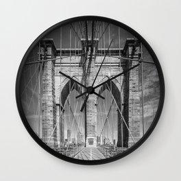 NEW YORK CITY Brooklyn Bridge Wall Clock