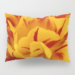 A Chaos of Reds and Yellows: in the Heart of a Triandrus Daffodil Pillow Sham