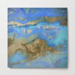 Cobalt Sea Metal Print