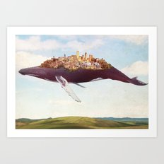 Dreams of moving on Art Print
