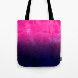 Boho pink navy blue watercolor ombre gradient fade Tote Bag