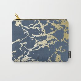 Kintsugi Ceramic Gold on Indigo Blue Carry-All Pouch
