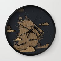sail Wall Clocks featuring sail by Chelsea Gass