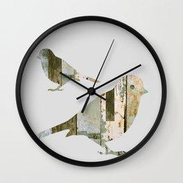 Reclaimed Wood Birds Wall Clock