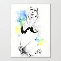 forever young Canvas Prints featuring Forever young by Cora-Tiana