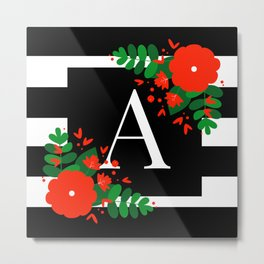 A - Monogrammed Initial Letter Metal Print