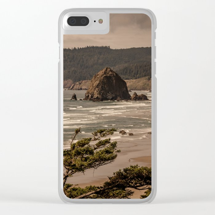 Pacific Summer Clear iPhone Case