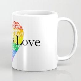 Love Is Love Rainbow Pride Heart 6 Coffee Mug