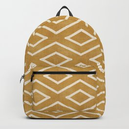 Stitch Diamond Tribal in Gold Backpack