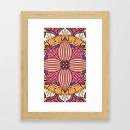 Mandala orchid Framed Art Print