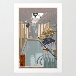 Neko Mata vs the Rabbit Foot Clan Art Print