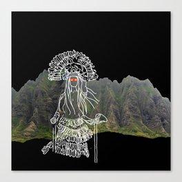rocky mountain woman Canvas Print