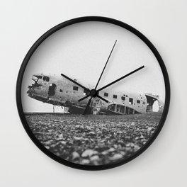 SOLHEIMASANDUR PLANE WRECK / Iceland Wall Clock