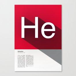 The Typographic Alphabet: Helvetica (8/26) Canvas Print