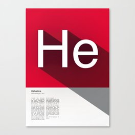 The Typographic Alphabet: Helvetica (8/26) Canvas Print