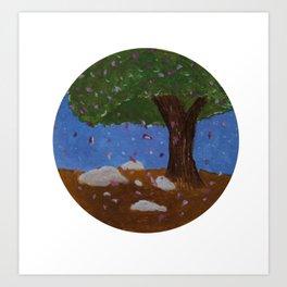Blossom - Acrylic Nature Painting Art Print