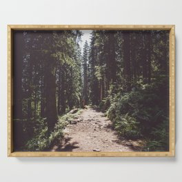Entering the Wilderness - Landscape and Nature Photography Serving Tray