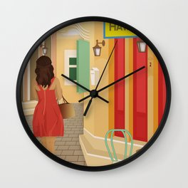 Lefkada, A walk in the city (GR) Wall Clock