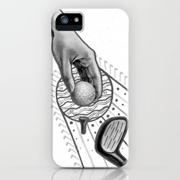 Golf swing iPhone Case