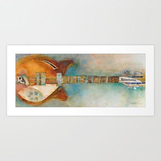Rickenback Guitar Art Print