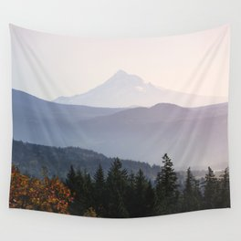Mount Hood over the Columbia River Gorge Wall Tapestry