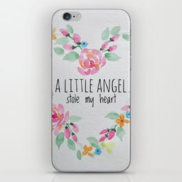 A Little Angel Stole My Heart iPhone Skin