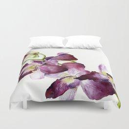 Radiant Orchids: Magenta Dendrobiums (Flipped Orientation) Duvet Cover