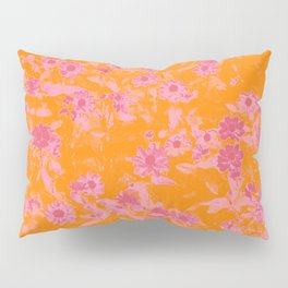 Floral trio tone photograph with orange and pinks Pillow Sham