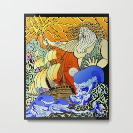 Tales of the Trident:Poseidon Metal Print