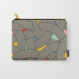 Modern Scandinavian Multi Colour Color Curve Graphic Carry-All Pouch