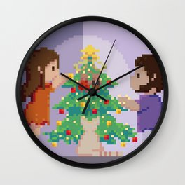 Christmas together Wall Clock