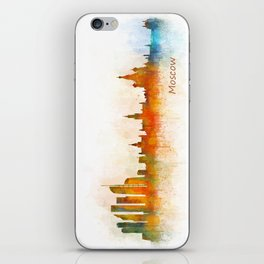 Moscow City Skyline art HQ v3 iPhone Skin