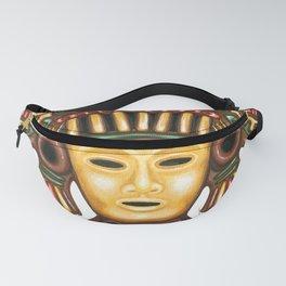 Clay Mayan Mask Fanny Pack