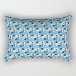 The Sleepy Sheep & Sunbathing Bear Pattern Rectangular Pillow