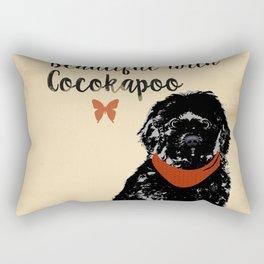 Black Cockapoo Dog Rectangular Pillow
