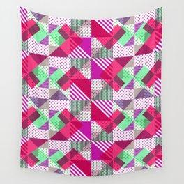 Geometric Polka Dots Petit Pois Neon Wall Tapestry