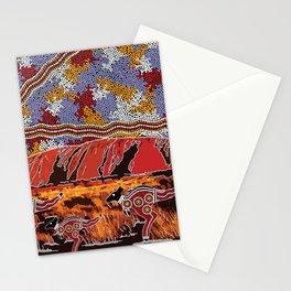 Uluru (Ayers Rock) Authentic Aboriginal Art Stationery Cards