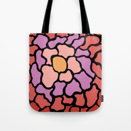 abstract shades of red and pink Tote Bag