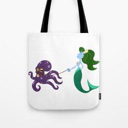 Mermaid and her Octopus Tote Bag