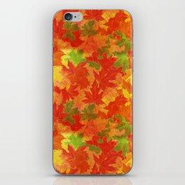 Autumn leaves #17 iPhone Skin