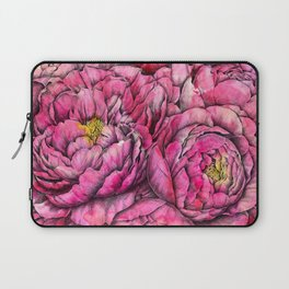 Peonies three pink Laptop Sleeve