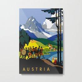 Austria - Vintage Travel Ad Metal Print