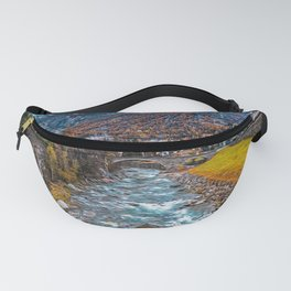 Misty river in the Alps Fanny Pack