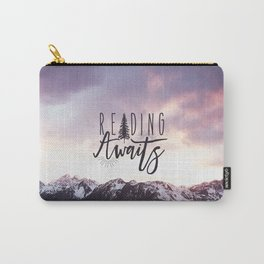Reading Awaits - Purple Mountains Carry-All Pouch