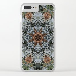 Spruce Cones And Needles Kaleidoscope K4 Clear iPhone Case